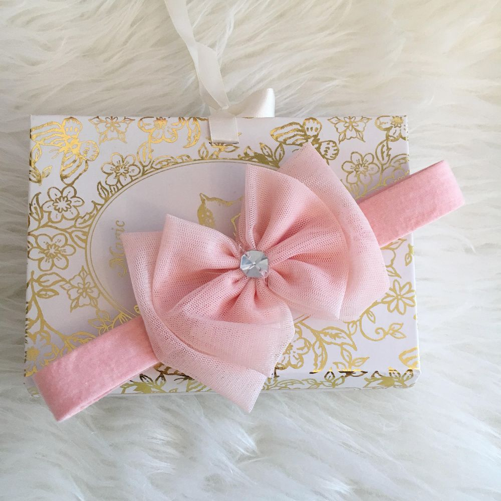 Headband – Pastel with Crystal | Luxury Baby Fashion